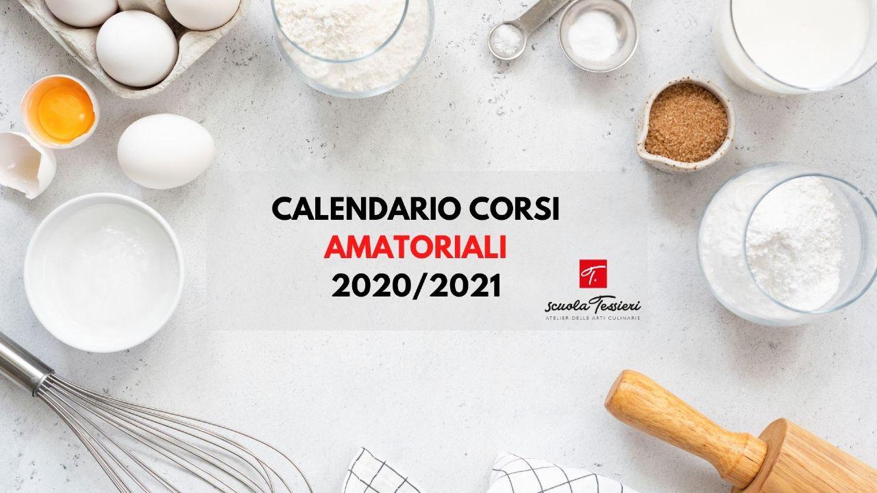 E' online il nuovo calendario dei Corsi Amatoriali 2020/2021