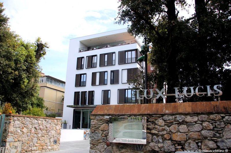 Vista esterna dell'hotel Lux Lucis, Forte dei Marmi